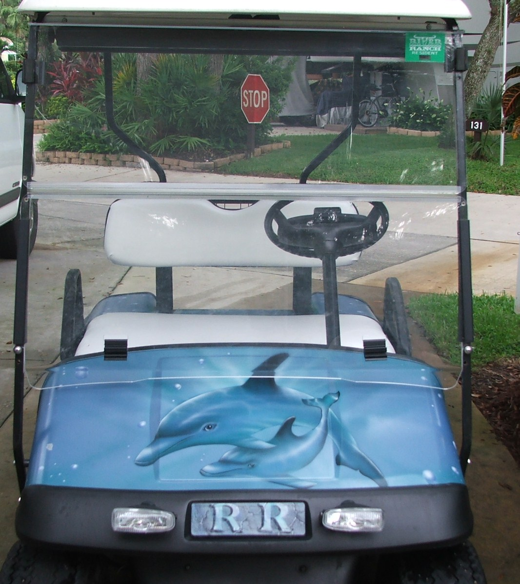 a golf cart in Florida.